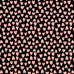 Valentine's Heart in Pink and Ebony