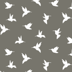 Hummingbird Silhouette in Greige