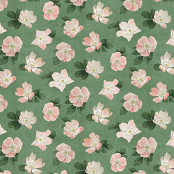 Large Briar Floral in Fern Green