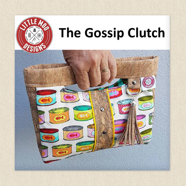 The Gossip Clutch Sewing Pattern By Little Moo Designs At Hawthorne