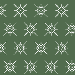 Snowflake Stitch in Kale