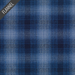 Mammoth Blurry Plaid Flannel in Royal