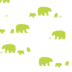Bear Silhouette in Lime
