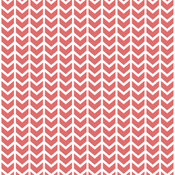 Broken Chevron in Poppy