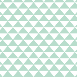 Triangle Mosaic in Mint