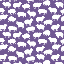 Sheep Silhouette in Ultra Violet