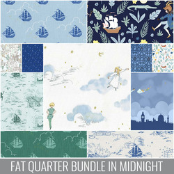 Peter Pan Fat Quarter Bundle in Midnight