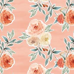 Ardent Floral in Vintage Rose Wash