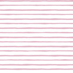 Artisan Stripe in Carnation on White