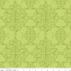 Damask in Lime