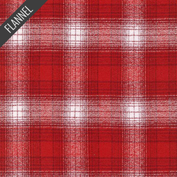 Mammoth Ombre Check Flannel in Red