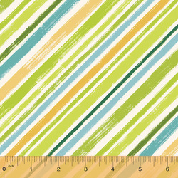 Diagonal Stripe in Spring Green