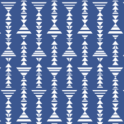 Little Tribal Stripe in Blue Jay