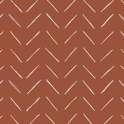 Chevron in Rust Red