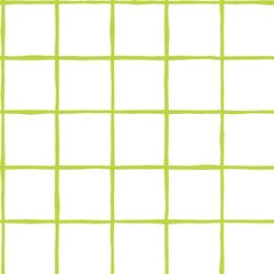 Windowpane in Lime on White