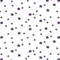 Star Light in Aubergine on White