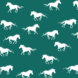 Horse Silhouette in Emerald