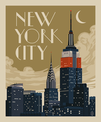 Poster Panel in New York City Skyline