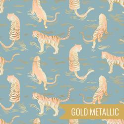 Tigress in Metallic Soft Blue