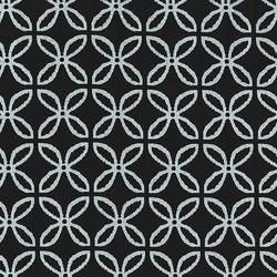 Clover Pearlized in Black Silver Zirconium