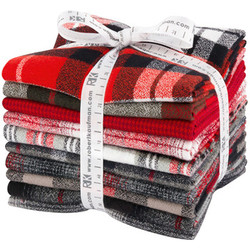 Mammoth Flannel Fat Quarter Bundle in Red