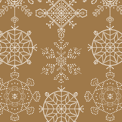 Snowflakes in Ochre