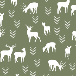 Deer Silhouette in Olive