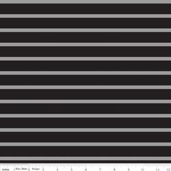 Quarter Inch Stripe Knit in Black