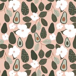 Little Avocado Blossoms in Delphinium Pink
