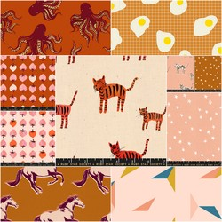 Darlings Fat Quarter Bundle in Rust