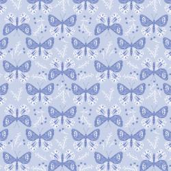 Pretty Butterflies in Periwinkle Blue