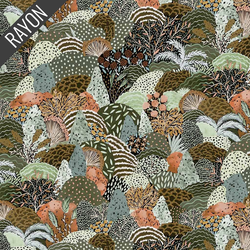 Packed Trees Rayon in Green Multi