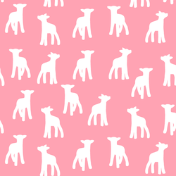 Lamb Silhouette in Rose Pink