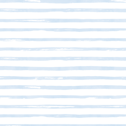 Watercolor Stripes in Frost Blue