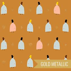 Coat Ladies in Gold Metallic