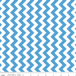 Small Chevron in Medium Blue