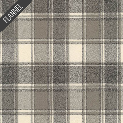 Mammoth Smoky Plaid Flannel in Iron