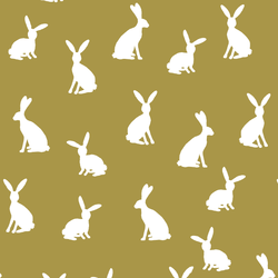 Cottontail Silhouette in Gold