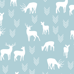 Deer Silhouette in Powder Blue