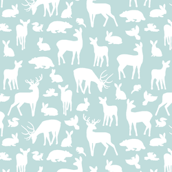 Forest Friends in Glacier Blue