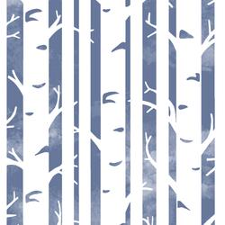 Big Birches in Azurite