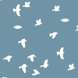 Flock Silhouette in Marine