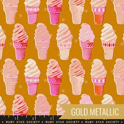 Icecream Cones in Metallic Caramel