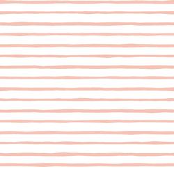 Artisan Stripe in Petal on White