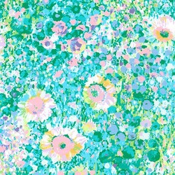 Floral Canvas in Pastel