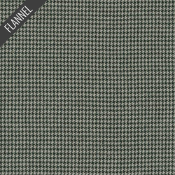 Shetland Houndstooth Flannel in Grey