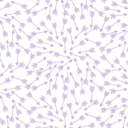 Arrows in Lilac on White