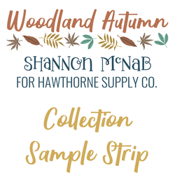 Woodland Autumn Sample Strip