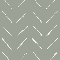 Large Chevron in Sage Green