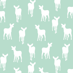 Fawn Silhouette in Mint